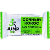 Конфета орехово-фруктовая со вкусом Сочный кокос ONE JUMP 30 гр