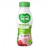Продукт овсяный с йогуртовыми культурами и пробиотиками Клюква Здоровое меню 250 мл