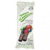 Батончики с начинкой лесная ягода в глазури Умные сладости 20 гр